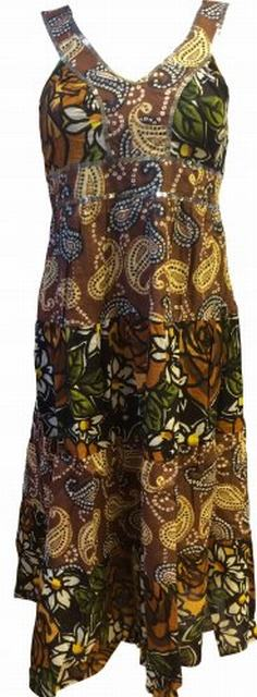 SL149 Ex UK Chainstore Floral Sequin Maxi - Brown x12