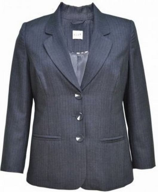 SL179 Ex UK Chainstore Striped Jacket Blazer - Grey x3