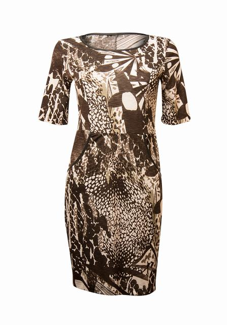 SL611 Ex UK Chainstore Abstract Effect Bodycon Dress x8