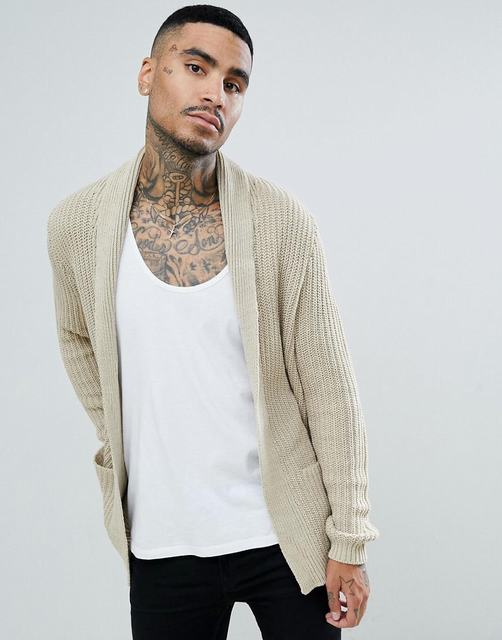 SM065 Ex Chainstore Ultimate Chunky Cardigan - Stone x12