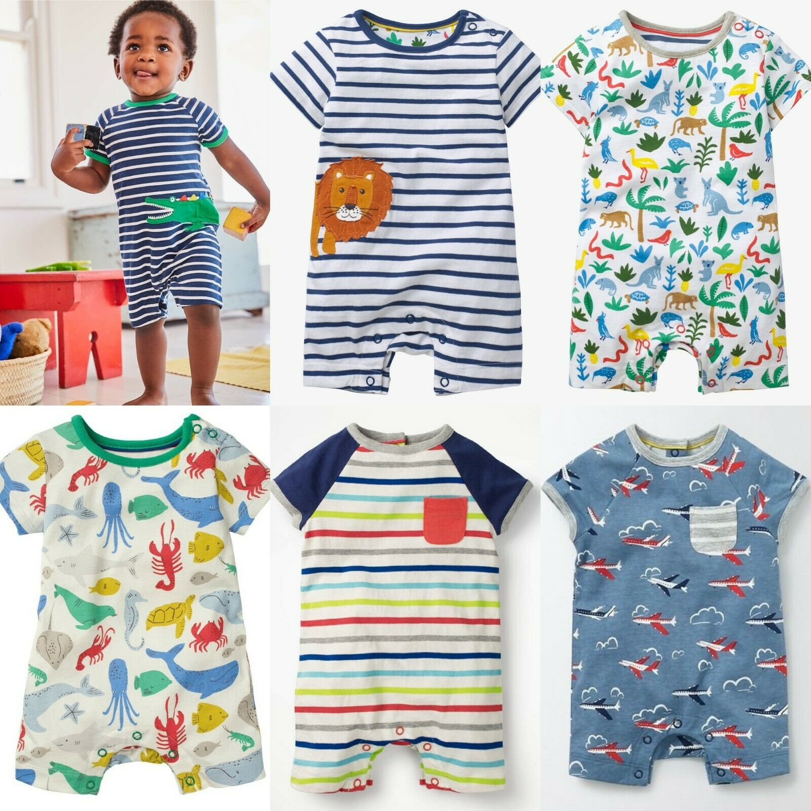 SC300 Ex Chainstore Baby Boys Assorted Rompers x100