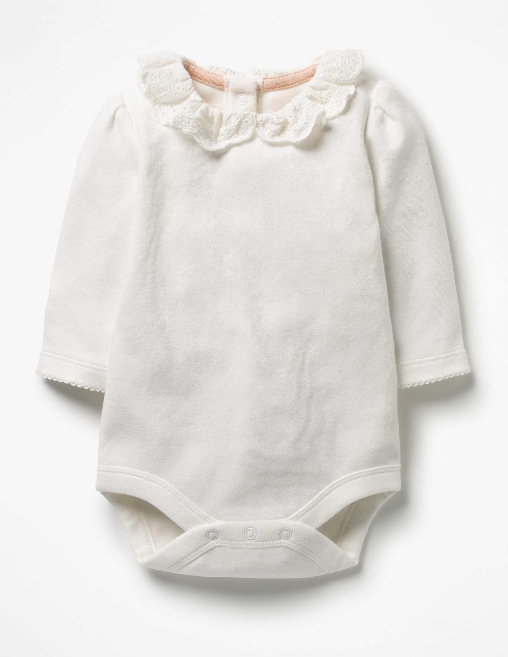 SC234 Ex Chainstore White Broderie Pretty Collar Bodysuit (x100)