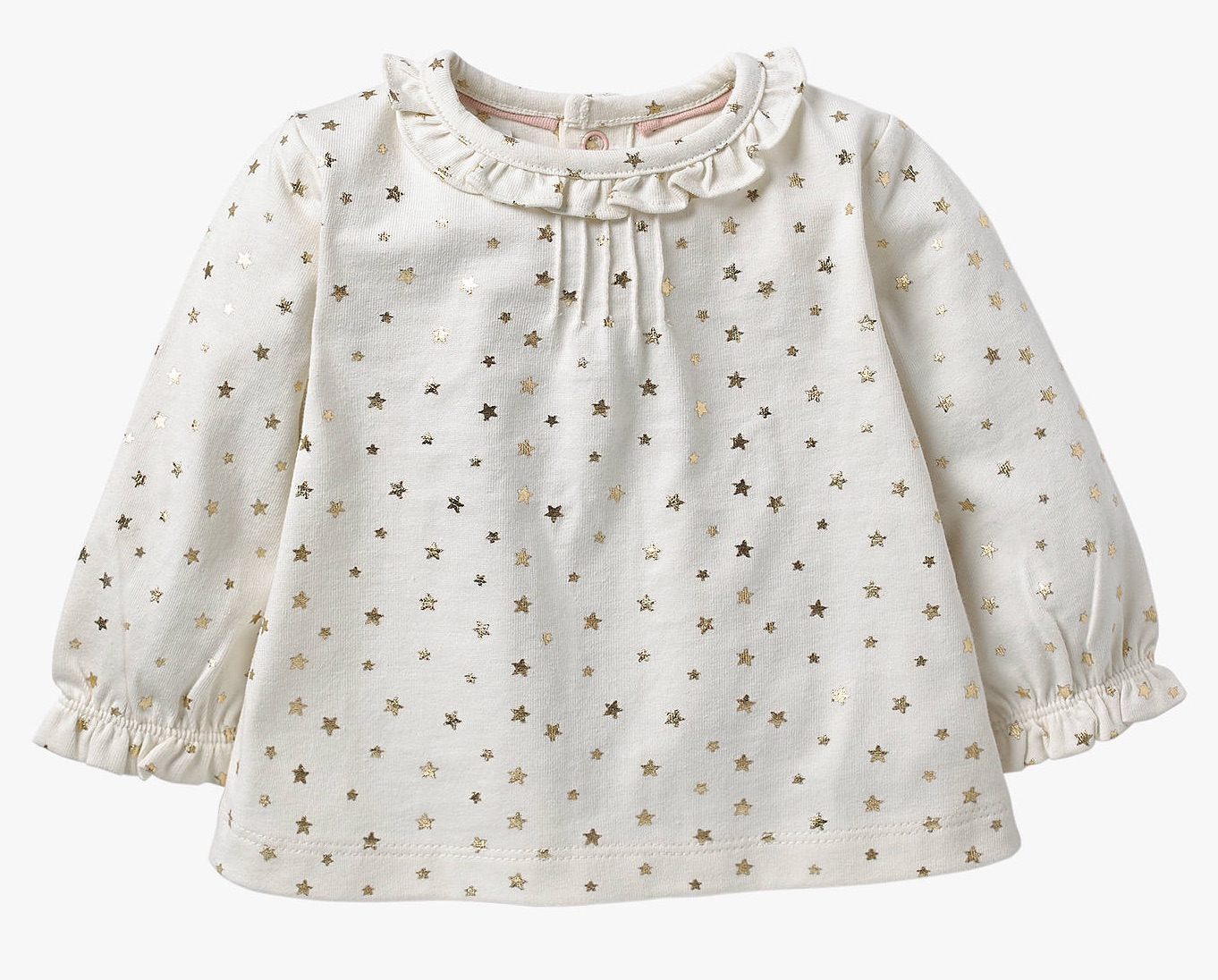 SC312 Ex Chainstore Pretty Ruffle Collar Twinkle Star Top x40