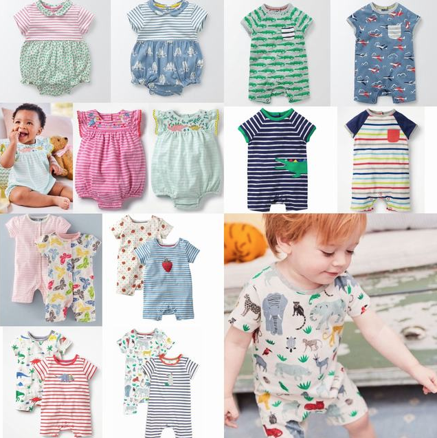 SC217 Ex Chainstore Girls & Boys Babies Assorted Rompers x118