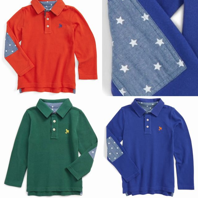 SC216 Ex Chainstore Stars Elbow Patch Long Sleeve Polo x50