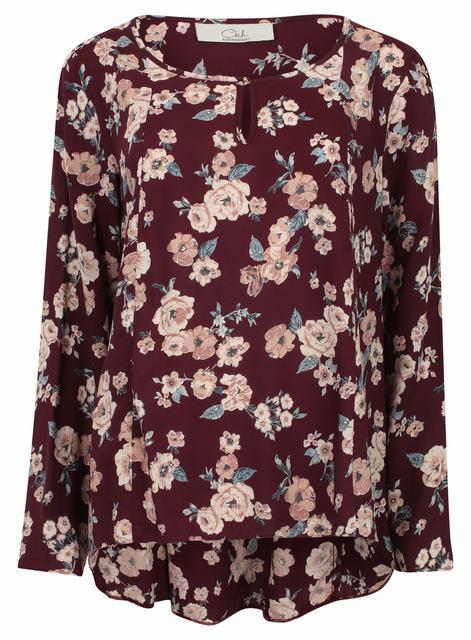 4212b97dea17bd SL1102 Ex Chainstore Floral Blouse - Purple x12 - £41.58 : SIIC ...