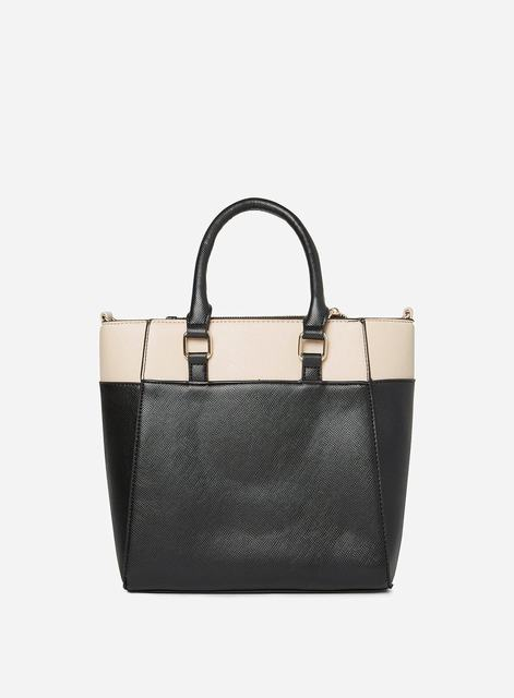 SL1306 Ex Chainstore Black Mini Colour Block Tote Bag x8