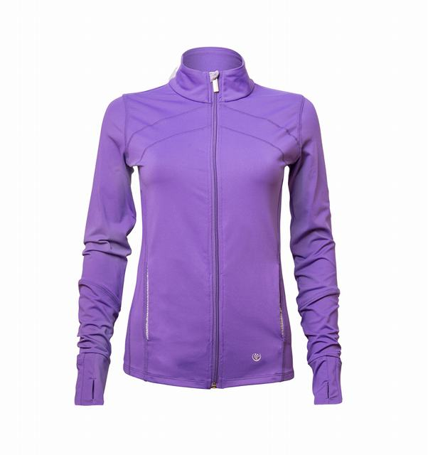 SL602 Ex UK Chainstore Purple Active Sports Jacket x12