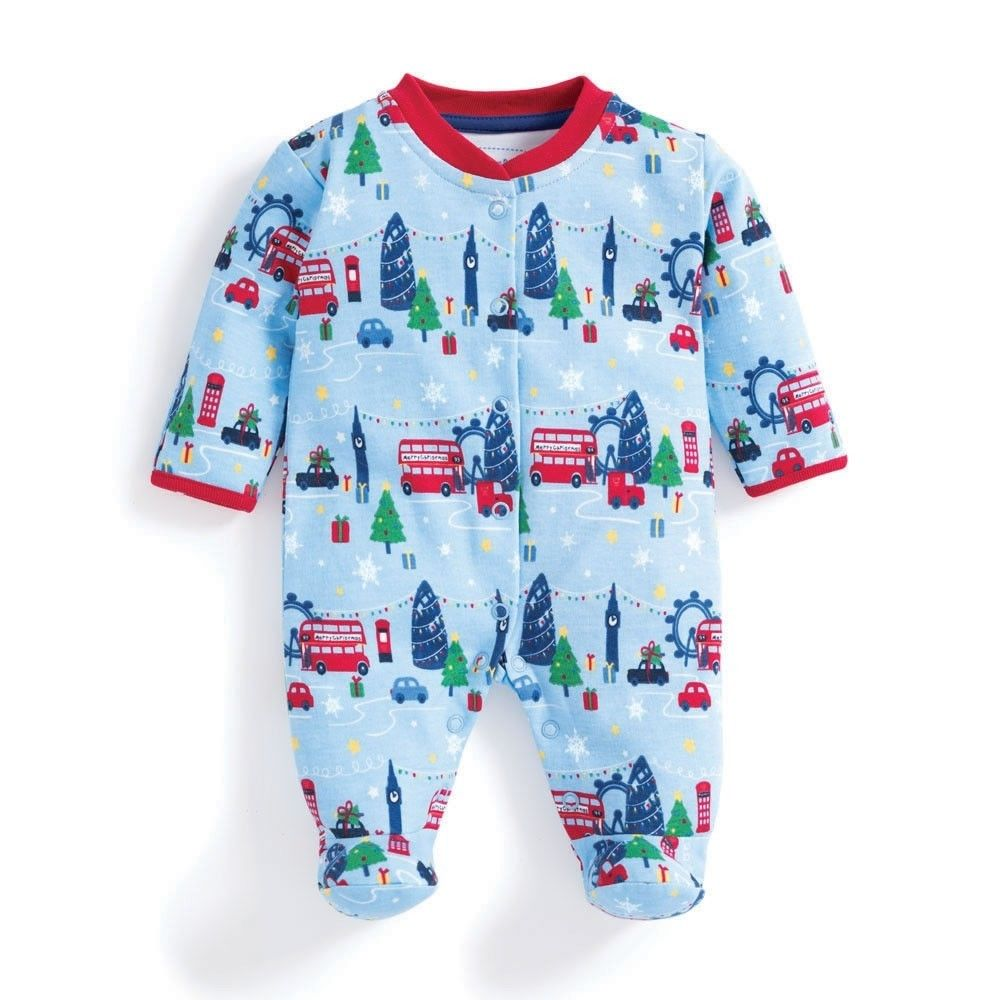 SC340 Ex Chainstore Festive London Printed Sleepsuit x13