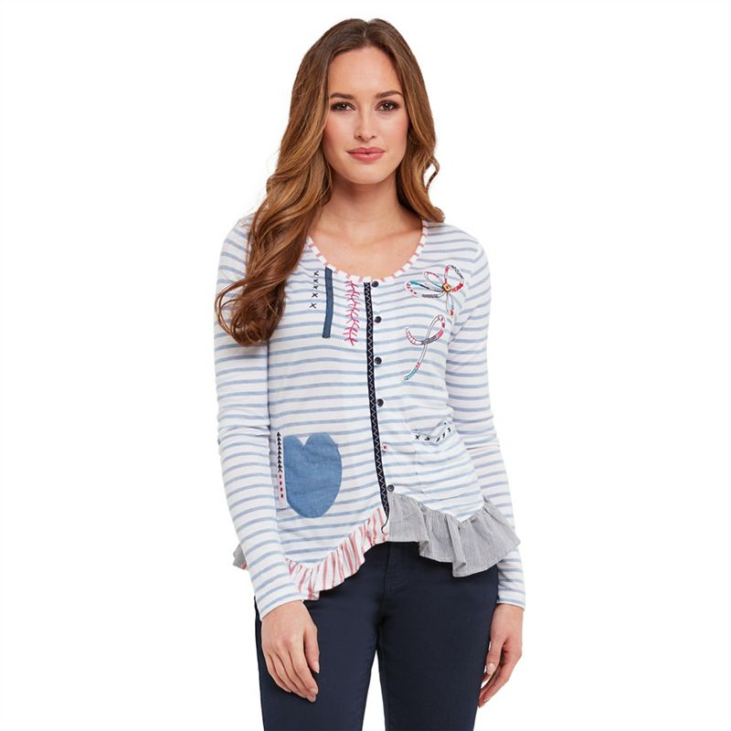 SL1455 Ex Chainstore Ship To Shore Pocket Blouse x13