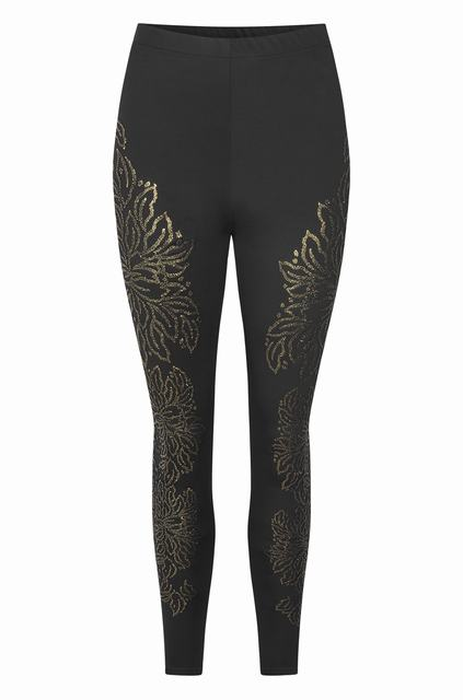 SL827 Ex UK Chainstore Black Caviar Embellished Leggings x10