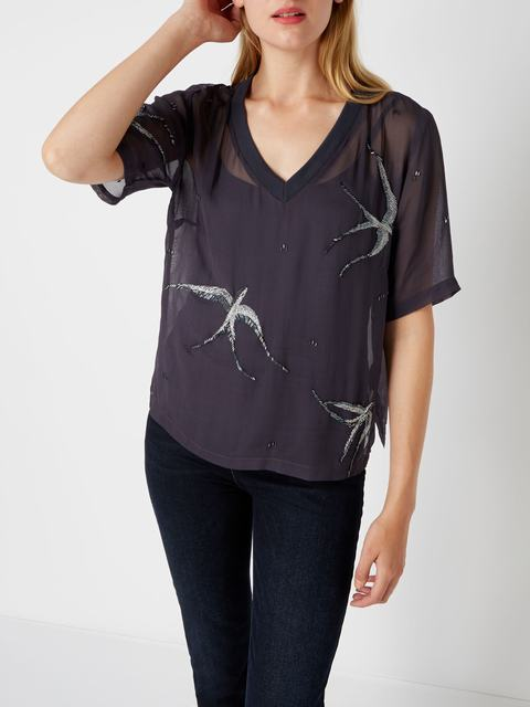 SL1134 Ex Chainstore Swallow Embellished Top x13