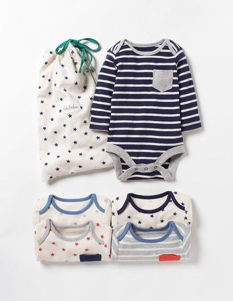 SC239 Ex Chainstore 5-Pack Stars & Stripes Pocket Bodysuits x20