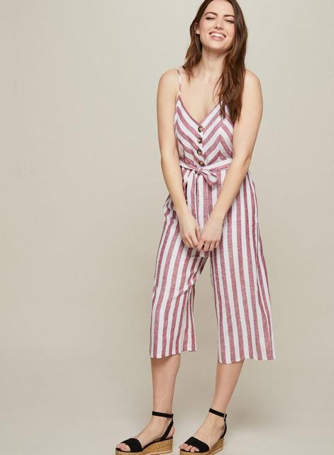 SL1272 Ex Chainstore Red Stripe Jumpsuit x12
