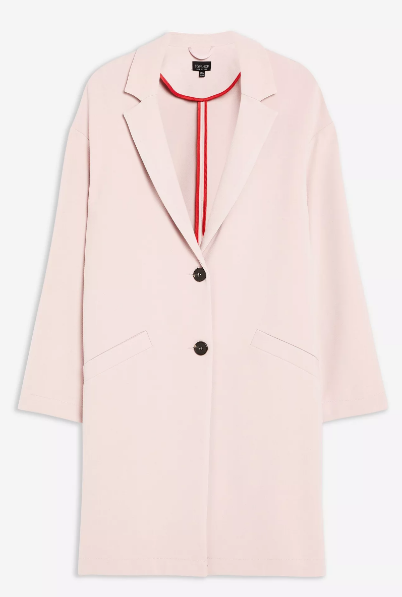 SL1484 Ex Chainstore Crepe Coat - Blush x12