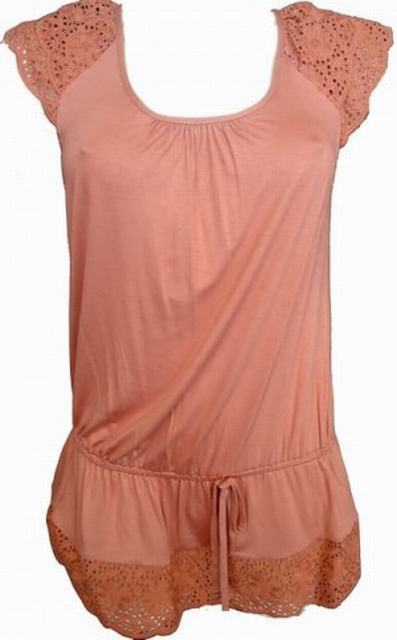 6ba819649782c SL008 Ex UK chainstore Rust Broderie Lace Tie Top x10 - £24.50   SIIC  Clothing