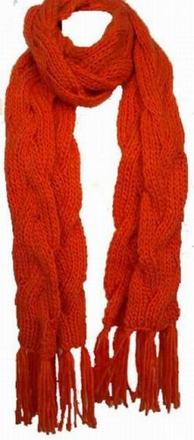 SL014 Ex UK Chainstore Chunky Knitted Scarf x6