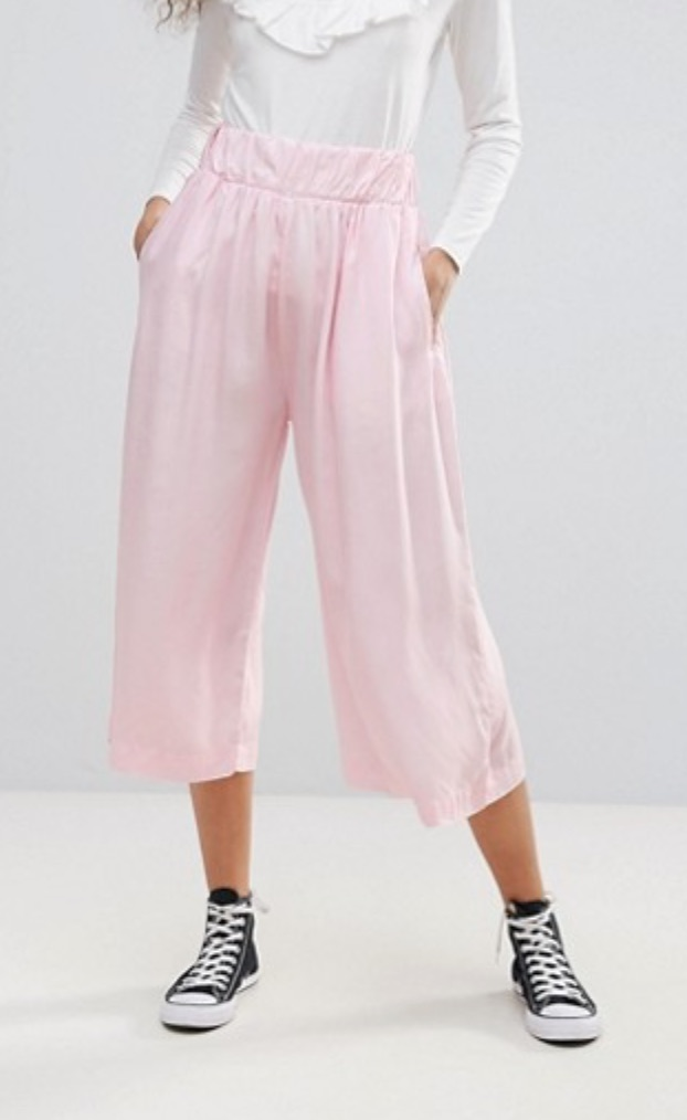 SL1600 Ex Chainstore Rae Pale Pink Wide Leg Culouttes