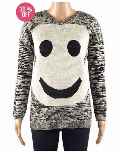SL1525 Ex UK Chainstore Smiley Face Panda Jumper x12