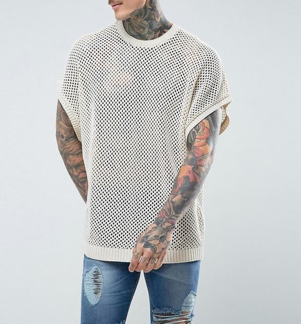 SM036 Ex UK Chainstore Sleeveless Mesh T-Shirt x12