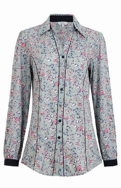 SL271 Ex UK Chainstore Butterfly Print Shirt x10