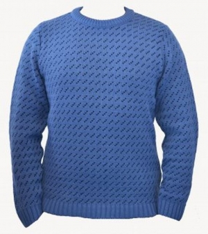 SM004 Ex UK Chainstore Blue & Navy Geometric Print Jumper x10