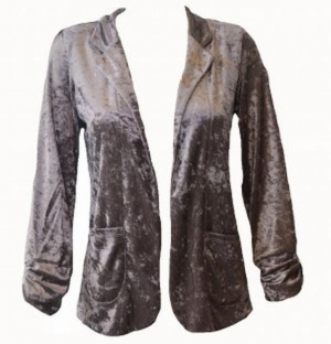 SL056 Ex UK Chainstore Mink Velour Blazer Jacket x12