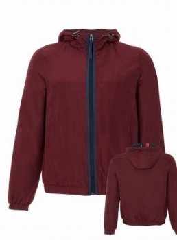 SM008 Ex UK Chainstore Burgundy Sports Hooded Jacket x 12