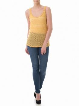 SL280 Ex UK Chainstore Mustard Knitted Vest x12