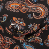 SL809 Ex UK Chainstore Black Paisley Print Tie Top x15