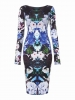 SL967 Ex UK Chainstore Floral Print Long Sleeve Midi Dress x15
