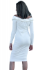 SL1206 Ex Chainstore Off Shoulder Mini Dress - Ivory x13