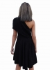 SL1227 Ex Chainstore One Shoulder Skater Dress - Black x12