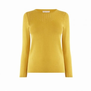 SL1298 Ex Chainstore Pointelle Yoke 3/4 Sleeve Jumper x11