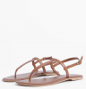 SL1305 Ex Chainstore Toe Post Leather Sandals - Tan x21