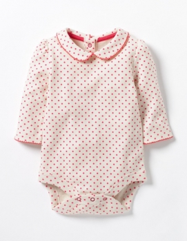 SC245 Ex Chainstore Red Polkadot Pretty Collar Bodysuit (x60)