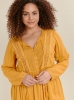 SL1461 Ex Chainstore Ochre Lace Detail Tunic Top x9