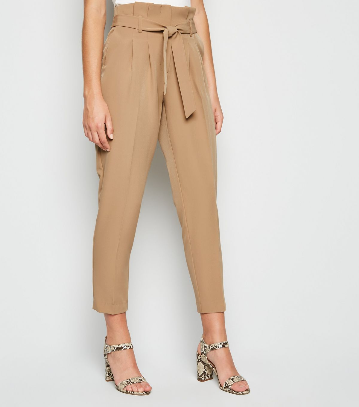 SL1520 Ex Chainstore Camel High Waist Tapered Trousers x10