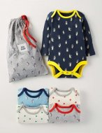 SC099 Ex Chainstore Baby Boys 4 Pack Penguins & Stars Bodies x14