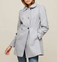 SL1065 Ex Chainstore Wrap Grey Pea Coat x10