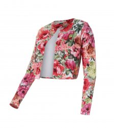 SL294 Ex UK Chainstore Floral Crop Jacket x14