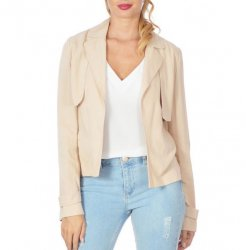 SL803 Ex UK Chainstore Cropped Blazer Jacket - Stone x9