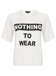 SL1149 Ex Chainstore Nothing To Wear Slogan Sweater x20