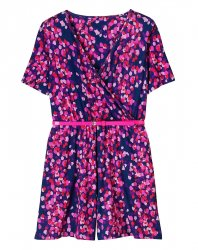 SL948 Ex UK Chainstore Printed Jersey Playsuit x14