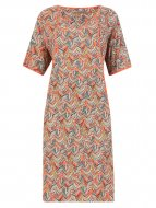 SL1011 Ex UK Chainstore Feather Print Tunic Dress x6