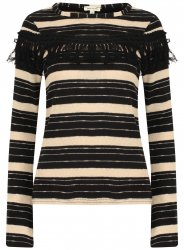 SL1152 Ex Chainstore Striped Tassle Detail Jumper x11