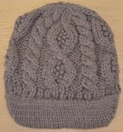 SL089 Ex UK Chainstore Cable Knit Hat - Brown x12
