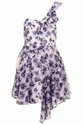 SL141 Ex UK Chainstore One Shoulder Floral Prom Dress x10