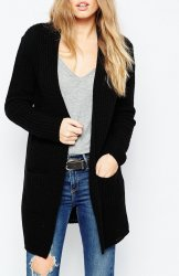 SL879 Ex Chainstore Ultimate Chunky Cardigan - Black