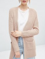 SL843 Ex UK Chainstore Ultimate Chunky Cardigan Nude x12